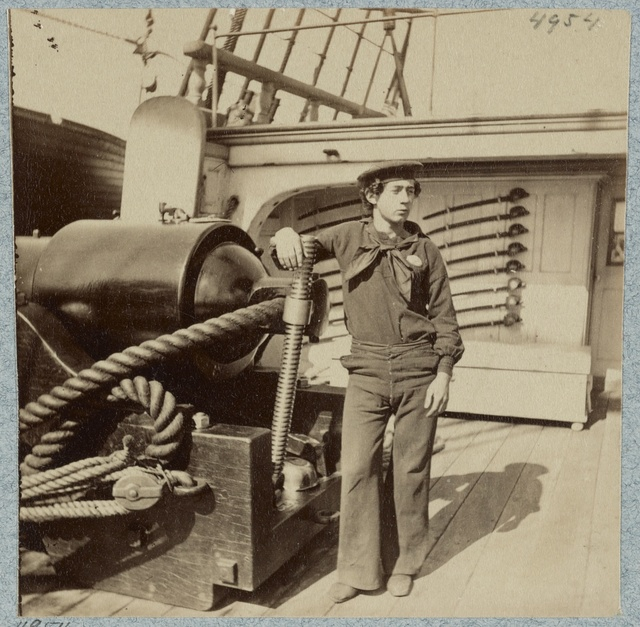 On deck of U.S.S. New Hampshire off Charleston, S.C.