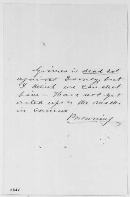 Orville H. Browning to Abraham Lincoln, July 1861  (Forney)
