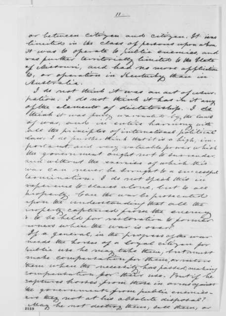 Orville H. Browning to Abraham Lincoln, Monday, September 30, 1861  (Fremont's proclamation)