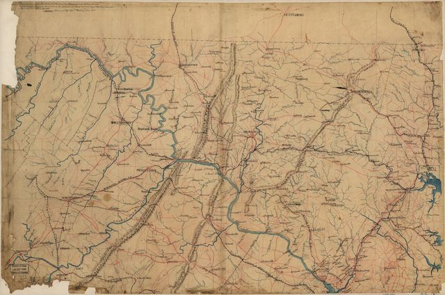 Part of map of portions of the milit'y dep'ts of Washington, Pennsylvania, Annapolis, and north eastern Virginia /