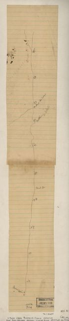 [Pencil sketch of the road from Slaven's Cabin to the top of Cheat Mountain in the area of the battle of Rich Mountain, July 11-12, 1861].