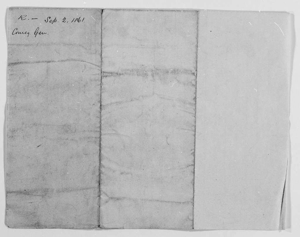 Philip Henry Sheridan Papers: General Correspondence, 1853-1888; 1861, Apr.-Nov
