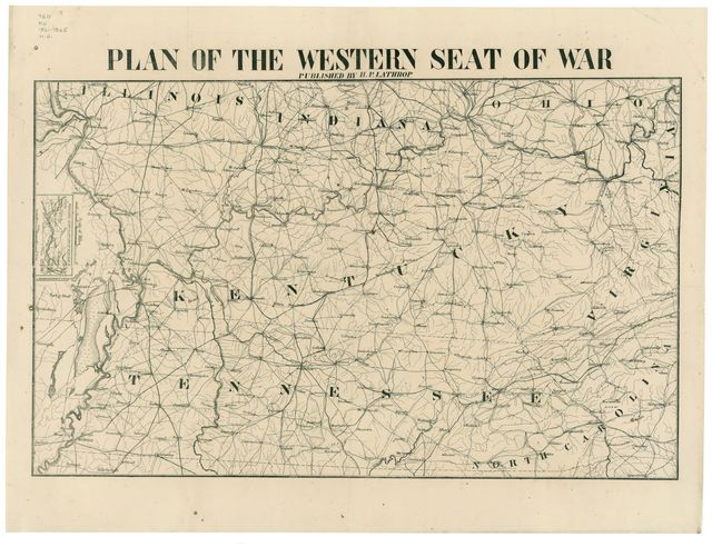 Plan of the western seat of war /