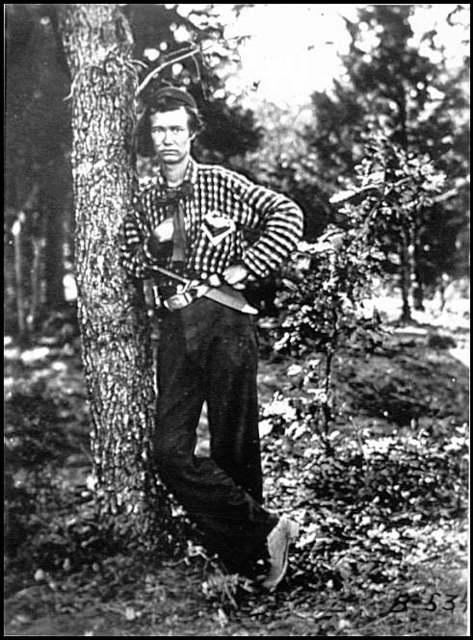 [Portrait of Private of Company F., 4th Michigan Infantry, U.S.A.]