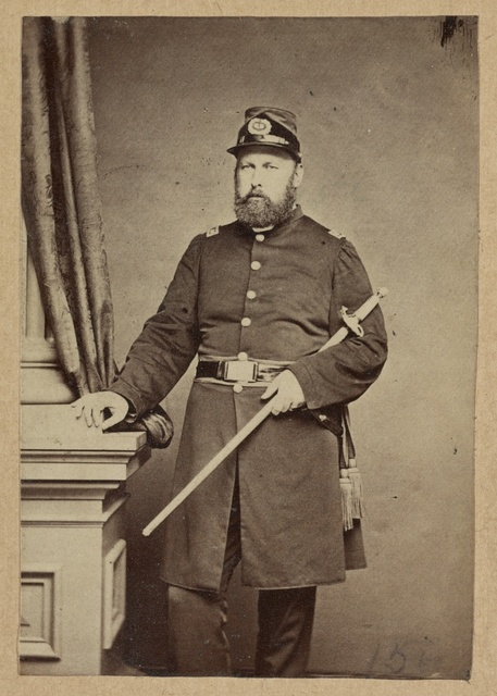 [Portrait of Union officer holding a sword in his arm]