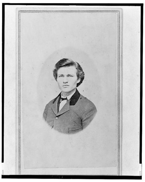 [Possibly Adjutant Carl (Charles) Schmitt, Union officer, head-and-shoulders portrait, facing front] / photographed by Godshaw & Mathis, Owensboro, Ky.