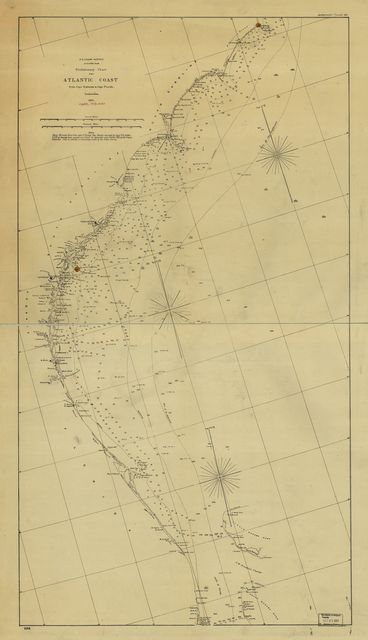 Preliminary chart of the Atlantic coast from Cape Hateras to Cape Florida. Autographic transfer 1861.