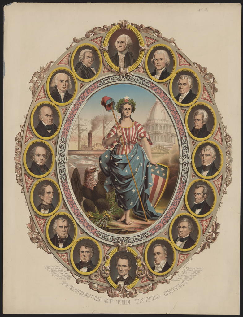 Presidents of the United States, [Bouclet & Feusier portraits of the Presidents].