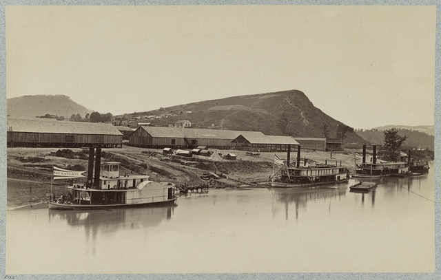 Quartermaster's landing and storehouses, Chattanooga, Tenn.