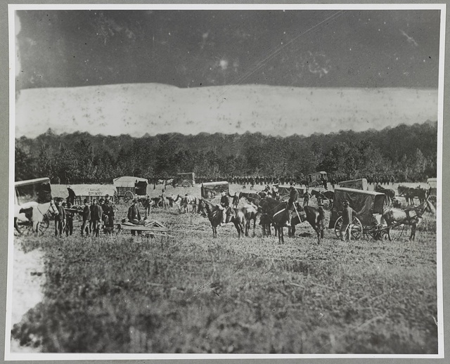 Removing wounded, Fredericksburg, Va.? 57th N.Y. Ambulance Corps.