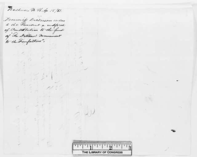 Renewick Dickerson to Abraham Lincoln, Monday, April 15, 1861  (Support)