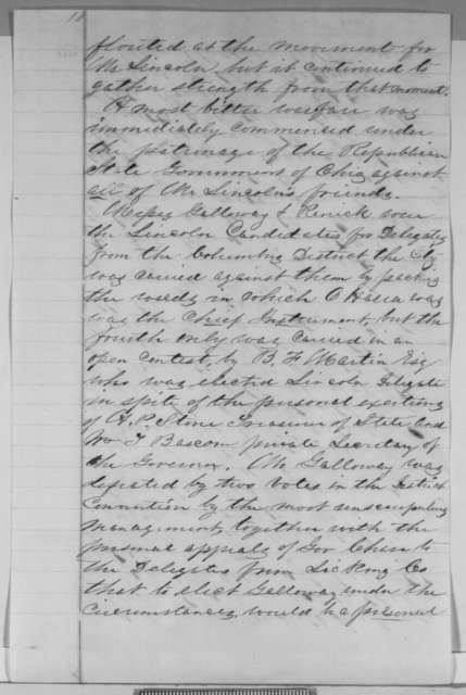Richard P.L. Baber to Abraham Lincoln, February 1861  (Wants to be postmaster of Columbus, Ohio)