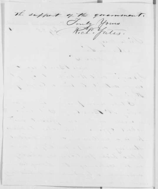 Richard Yates to Abraham Lincoln, Thursday, July 25, 1861  (Recommendation)