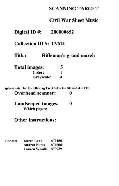 Rifleman's grand march