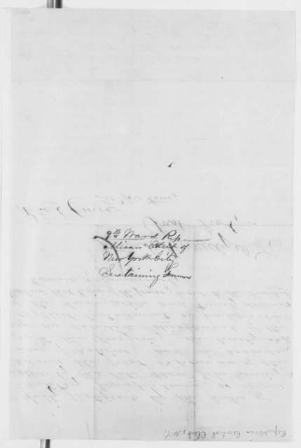 Robert Crowe to Abraham Lincoln, Monday, September 23, 1861  (Resolutions supporting Fremont from New York City Republican Central Club)