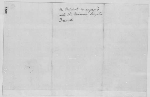 Salmon P. Chase to Abraham Lincoln, Monday, March 25, 1861  (Meeting with Maryland politicians)