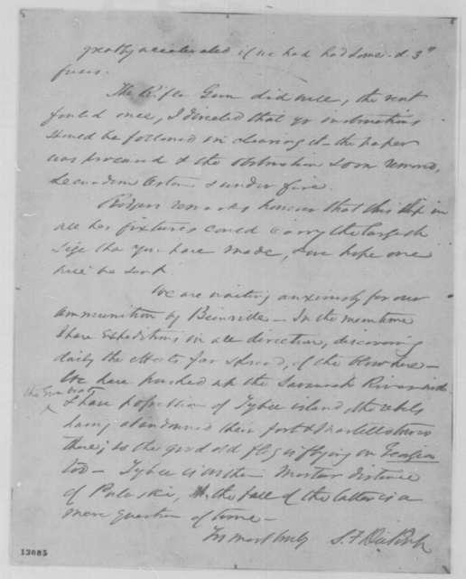Samuel F. Dupont to John A. Dahlgren, Sunday, November 24, 1861  (Military affairs)