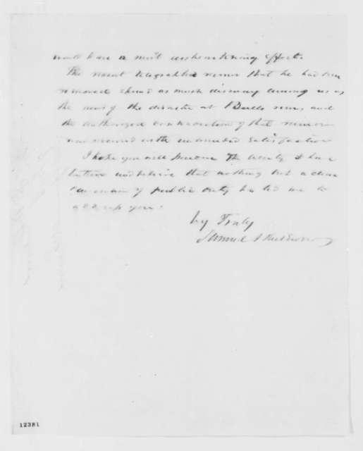 Samuel J. Kirkwood to Abraham Lincoln, Wednesday, October 09, 1861  (Supports Fremont)