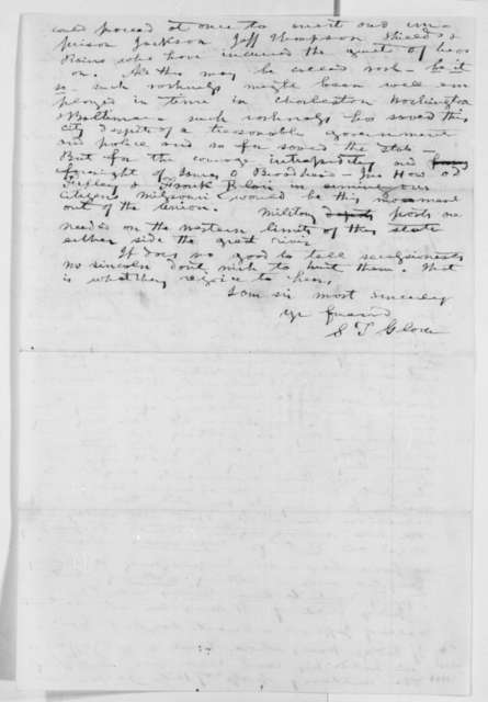 Samuel T. Glover to Abraham Lincoln, Friday, May 24, 1861  (Situation in Missouri)