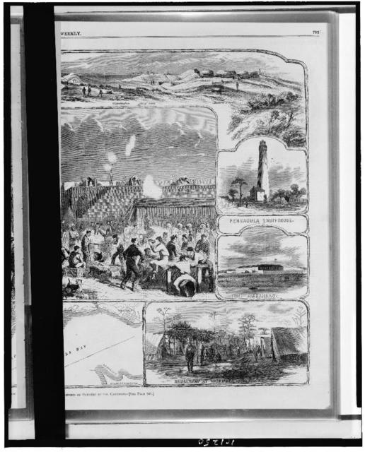 Scenes at and around Fort Pickens / sketches by officers of the garrison.
