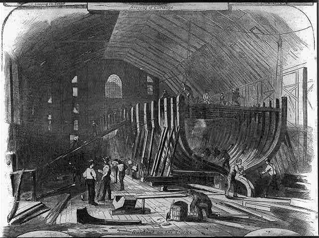 Scenes in the Brooklyn Navy-Yard: Arrival of Cordage