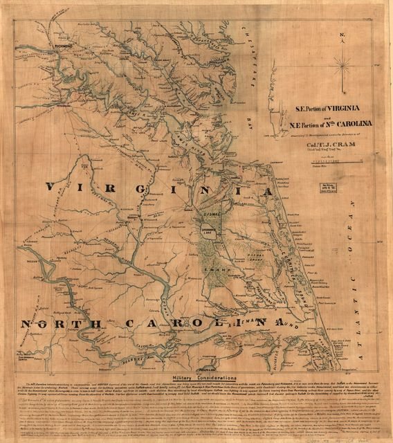 S.E. portion of Virginia and N.E. portion of N'th Carolina /