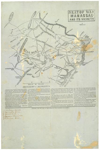 Seat of war, Manassas and its vicinity