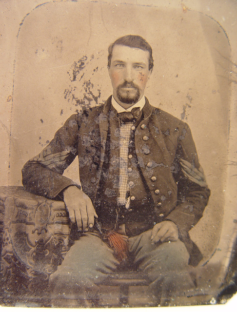 [Sergeant B. F. Smith of Company B, 52nd Virginia Infantry Regiment, and Company F, 1st Virginia Cavalry Regiment]