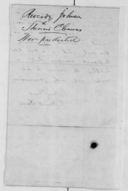 Sherrard Clemens to Abraham Lincoln, Friday, March 22, 1861  (Virginia patronage)