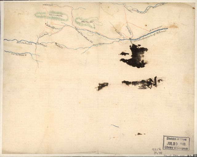 [Sketch of roads and streams in Highland County, Va., and Pendleton County, W. Va.].