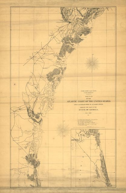 Sketch of the Atlantic coast of the United States from Savannah River to St. Mary's River, embracing the coast of the State of Georgia