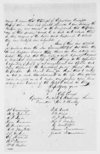 Solano County California Republicans to Ira P. Rankin, June 1861  (Memorial protesting appointment of Lockwood Todd)