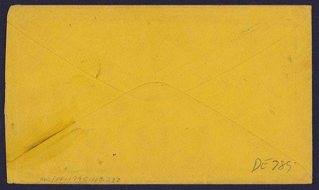 [Stamped envelope addressed to Capt. M. Patterson]