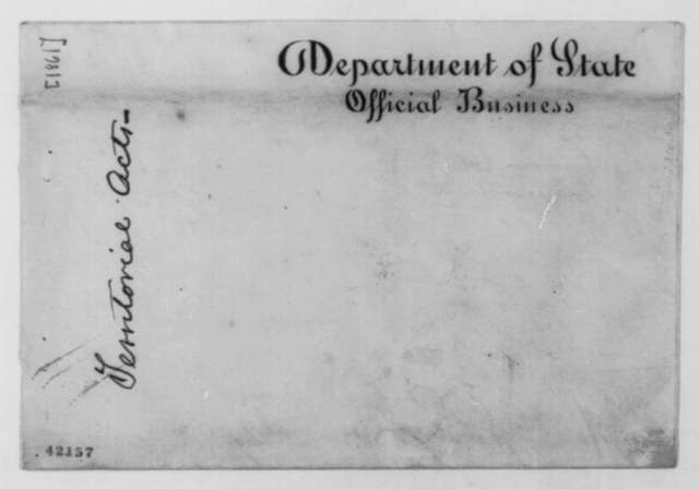 State Department to Abraham Lincoln, [1861]  (Cover)