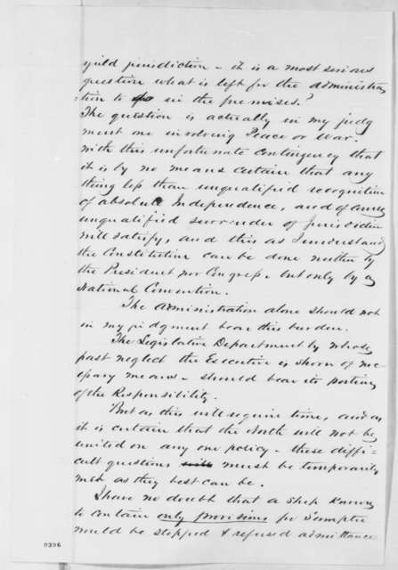 Stephen A. Hurlbut to Abraham Lincoln, Wednesday, March 27, 1861  (Report on visit to South Carolina)