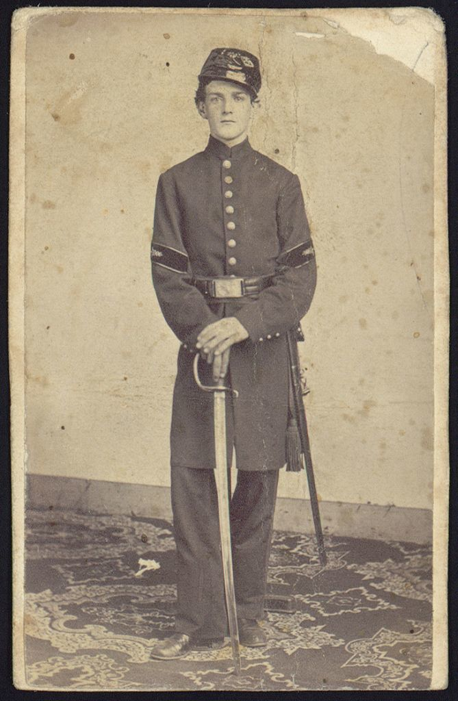 [Steward Beach, full-length studio portrait, standing, facing front, wearing military uniform]