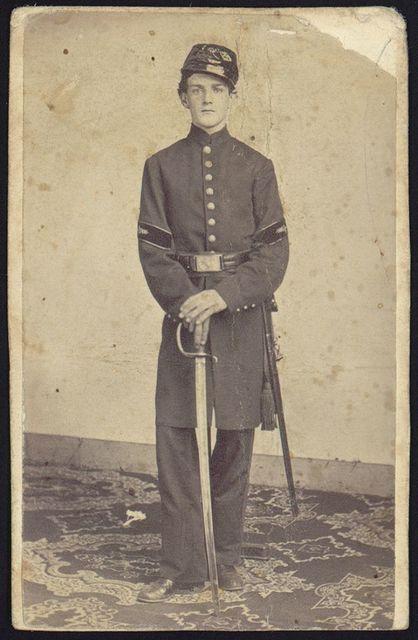 [Steward Beach, full-length studio portrait, standing, facing front, wearing military uniform]
