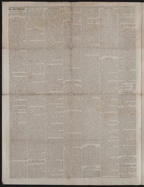 The Alton Telegraph, [newspaper]. March 13, 1861.