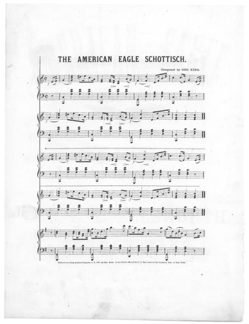 The  American eagle schottisch