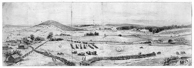 The battle of Cedar Mountain (Slaughters Mountain)