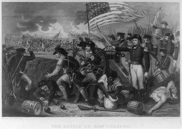 The Battle of New Orleans / designed by W. Momberger ; engraved by H.B. Hall.