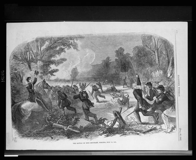 The battle of Rich mountain, Virginia, July 13, 1861 / Hennessy del.