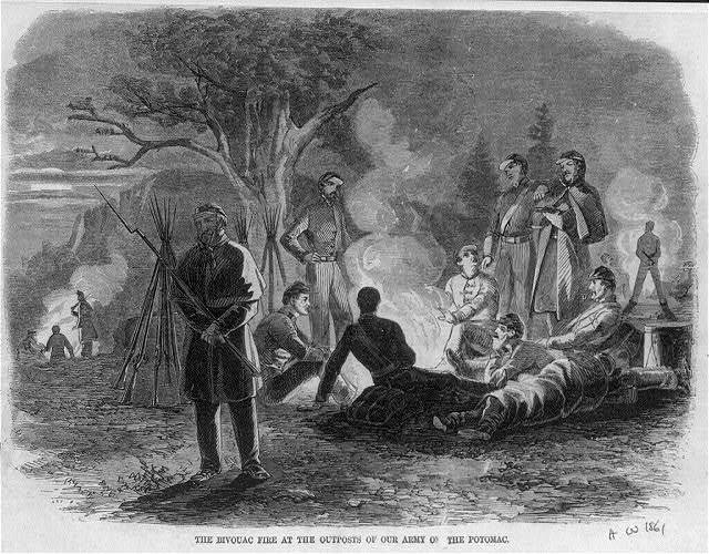 The Bivouac Fire at the Outposts of our Army of the Potomac