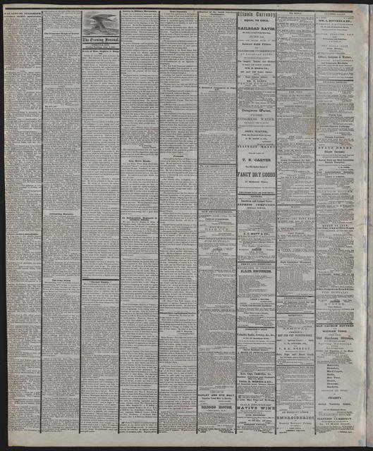 The Chicago Evening Journal, [newspaper]. June 3, 1861.