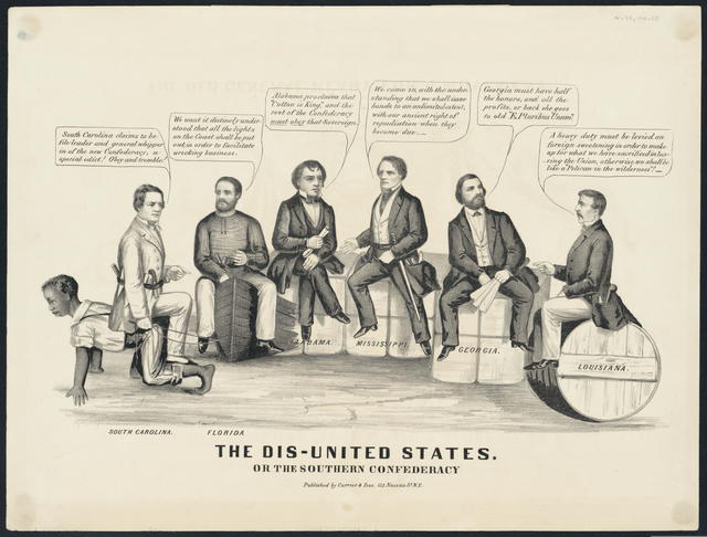 The Dis-United States. Or the Southern Confederacy.