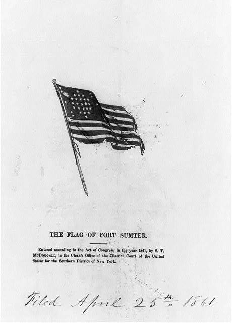 The flag of Fort Sumter