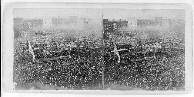 The great Union meeting in Union Square, New York, April 20, 1861