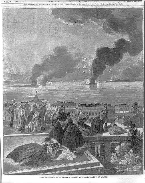 The housetops in Charleston during the bombardment of Sumter