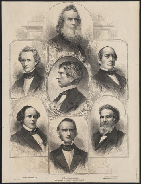 The members of President Lincoln's cabinet.