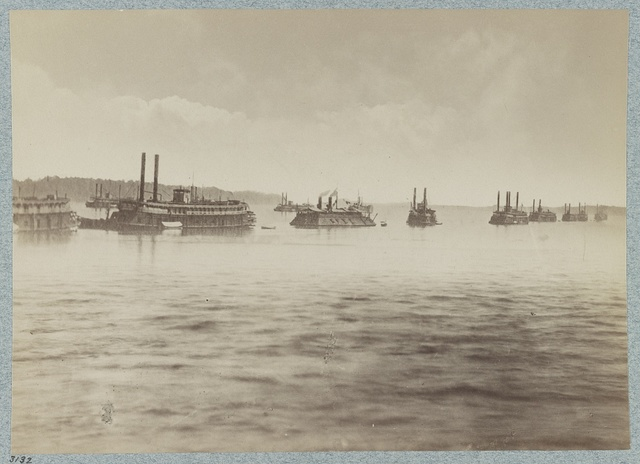 The Mississippi River Fleet at Mound City, Illinois